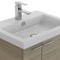23 Inch Larch Canapa Bathroom Vanity with Fitted Ceramic Sink, Wall Mounted, Medicine Cabinet Included